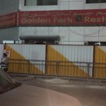 Restaurant entrance boarded up for renovations