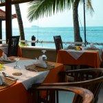 Breakfast at the beachfront-restaurant