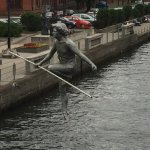 The little acrobat over the river in Bydgoszcz