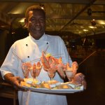 Chef Alec and his prawn platter