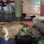 The deep fried burrito is big and delicious