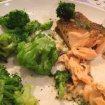 lighter fare salmon and broccoli