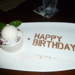 Chocolate Lava Cake with vanilla ice cream :)