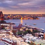 Panoramic View of Sydney Harbour and Opera House