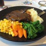 Steaks & veg.