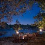 Rapids dinner under the moonlight