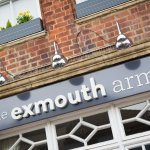 you'll find the exmouth arms at the heart of the bath road