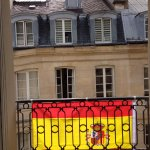 The windows were decked out for the European Cup!