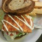Buffalo grouper sandwich  Blackened salmon BLT