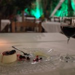 Dry red wine and dessert