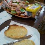 Canned breakfast at Hotel Maria Luisa in Algeciras.