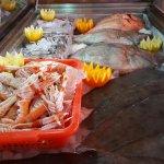 Pescado y mariscos fresco