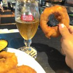 Look at the size of the onion rings!