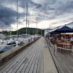 Dockside dining, locally-sourced seafood