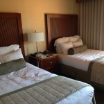Full size double beds with balcony at Point Loma building