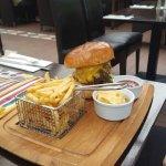 Beautifully succulent cheeseburger.