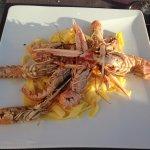 langoustines, tagliatelles et sauce agrume