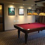 The pool table room in the 3 bedroom villa jambo