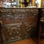 This intricately carved bar is worth seeing