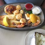 Seafood Combo Platter with Baked Potato