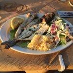 A beautiful evening for a Seabass dinner