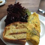 Veggie Omelet. The bread and pastries are also amazing!