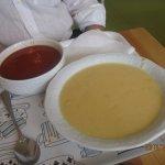 zuppa di pomodoro e zuppa di patate