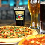 Pizza. Beer. Good.