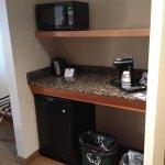Coffee, fridge, micro