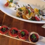 Bruschetta and caprese salad!
