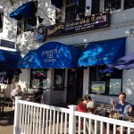 The outside patio at Joshua's has plenty of seating, and is great for people-watching.