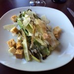 The grilled romaine caesar salad