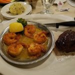 Steak and broiled shrimp combo. Excellent!!