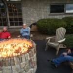 Firepit outside!