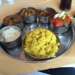 Vegetarian thali - amazing !! Such a varied menu and great for a gluten free diet.
