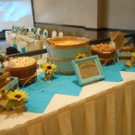 Our little snack table for guest at the wedding