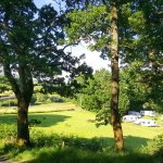 View of Cefn Crib campsite