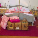 One of the glamping tents
