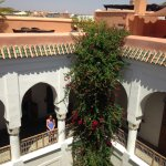 View from the roof into the riad.
