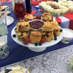 Delicious Scones and fruit