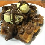 Waffles Nutella & ice cream