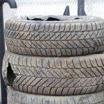 Sharp shale rocks puncture tires