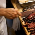 All of Katz's pastrami is hand-cut for each individual sandwich