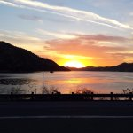 sunset over Lake Kaweah