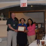 Certificate of Appreciation from HOPE Animal Assisted Crisis Response to the manager and waitres