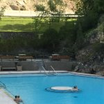 Radium Hot Springs, just a few minutes drive from the motel
