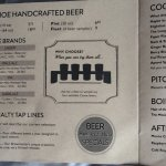 Handcrafted beer - core brands menu.