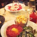 Tartare et risotto