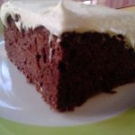 chocolate zucchini cake with cream cheese icing, delicious