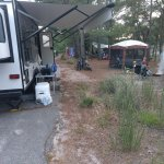 Parallel parking RV camping
